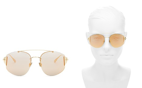 Dior Women's Stronger Mirrored Brow Bar Rimless Square Sunglasses, 58mm - Bloomingdale's_2