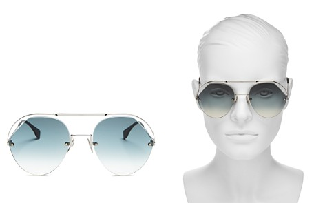 Fendi Women's Round Sunglasses, 57mm - Bloomingdale's_2