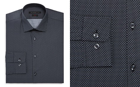 John Varvatos Star USA Micro-Diamond Slim Fit Dress Shirt - Bloomingdale's_2