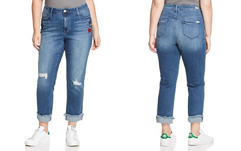 Seven7 Jeans Plus Rolled-Hem Patch Jeans in Reeves - Bloomingdale's_2