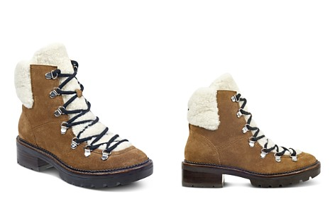Marc Fisher LTD. Women's Capelli Suede & Sheep Fur Lace Up Booties - Bloomingdale's_2
