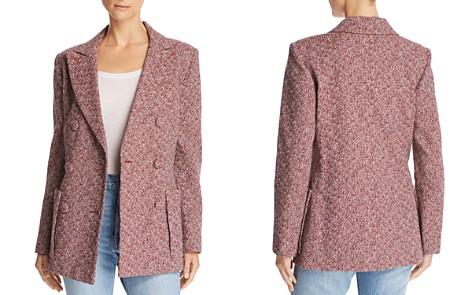 Ksenia Schnaider Double-Breasted Tweed Blazer - Bloomingdale's_2