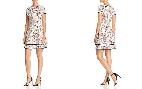 AQUA Tipped Floral Print Dress - 100% Exclusive - Bloomingdale's_2