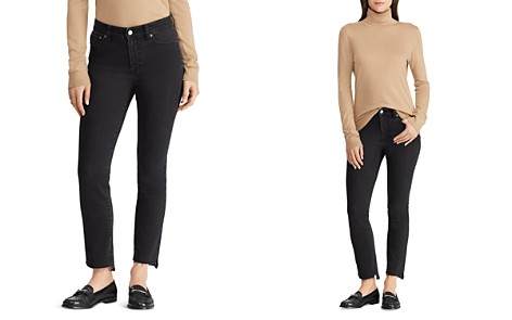 Lauren Ralph Lauren Regal Straight Step-Hem Jeans in Charcoal - Bloomingdale's_2