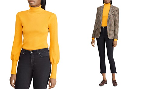 Lauren Ralph Lauren Blouson-Sleeve Turtleneck Sweater - Bloomingdale's_2