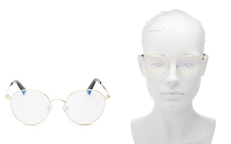 The Book Club Women's Bothering Sights Round Blue Screen Filter Glasses, 51mm - Bloomingdale's_2