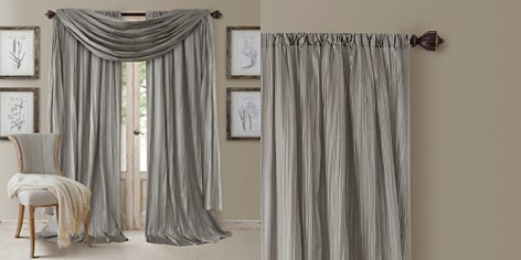 """Elrene Home Fashions Athena 52"""" x 95"""" Crinkled Curtain Panels, Pair with Scarf Valance - Bloomingdale's_2"""