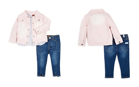 7 For All Mankind Girls' Shirt, Jeans & Denim Jacket Set - Baby - Bloomingdale's_2
