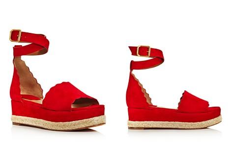 Chloé Women's Lauren Suede Espadrille Platform Sandals - Bloomingdale's_2