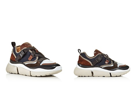 Chloé Women's Sonnie Lace-Up Leather & Suede Sneakers - Bloomingdale's_2