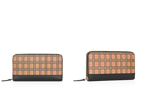 Burberry Small-Scale Check Leather Zip-Around Wallet - Bloomingdale's_2