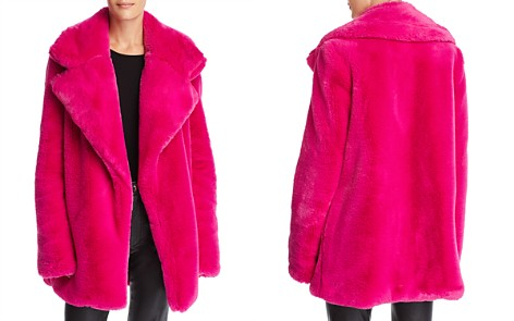 MILLY Riley Faux-Fur Coat - Bloomingdale's_2