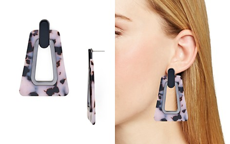Rebecca Minkoff Trapezoid Resin Drop Earrings - Bloomingdale's_2