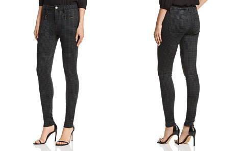 AQUA Zip-Detail Plaid Skinny Pants - 100% Exclusive - Bloomingdale's_2