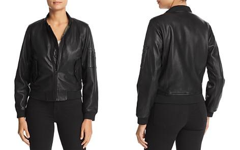 Majestic Filatures Leather Bomber Jacket - Bloomingdale's_2