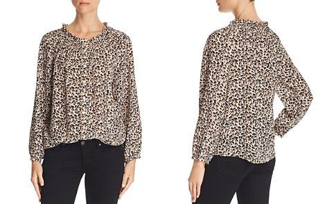 Rebecca Taylor Leopard-Printed Silk Top - Bloomingdale's_2