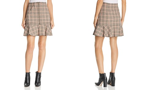 La Vie Rebecca Taylor Plaid Ruffled Mini Skirt - Bloomingdale's_2