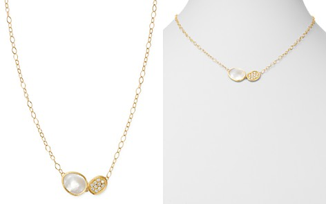 """Marco Bicego 18K Yellow Gold Lunaria Brilliant-Cut Diamond & Mother of Pearl Pendant Necklace, 16.5"""" - Bloomingdale's_2"""