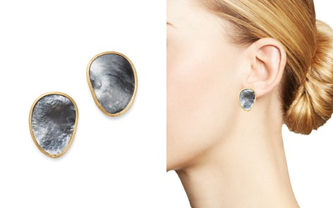 Marco Bicego 18K Yellow Gold Lunaria Black Mother of Pearl Stud Earrings - Bloomingdale's_2