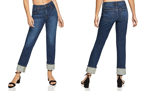 BCBGeneration High-Rise Boyfriend Jeans in Dark Wash - Bloomingdale's_2