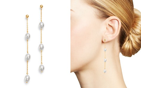 Bloomingdale's Cultured Freshwater Pearl Drop Earrings in 14K Yellow Gold - 100% Exclusive_2