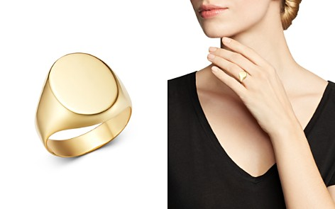 Moon & Meadow 14K Yellow Gold Oval Signet Ring - 100% Exclusive - Bloomingdale's_2