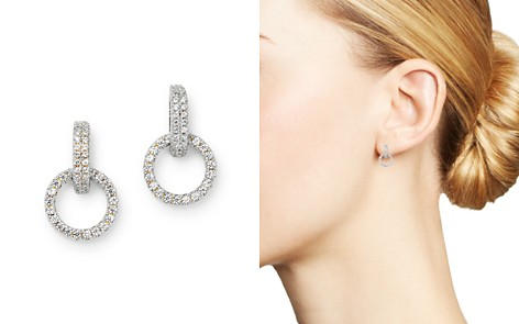 Bloomingdale's Diamond Circle Drop Earring in 14K White Gold, 0.25 ct. t.w. - 100% Exclusive_2