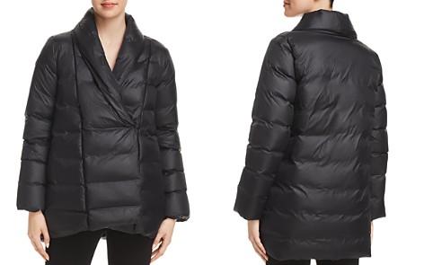 Eileen Fisher Shawl Collar Down Puffer Coat - Bloomingdale's_2
