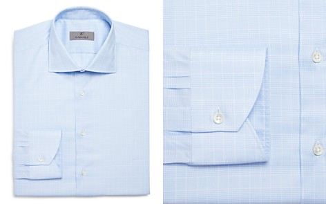 Canali Glen Plaid Regular Fit Dress Shirt - Bloomingdale's_2