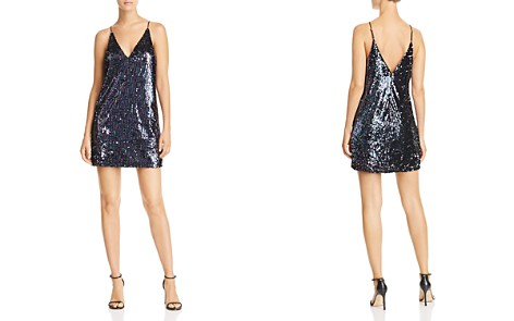 AQUA Sequined Slip Dress - 100% Exclusive - Bloomingdale's_2