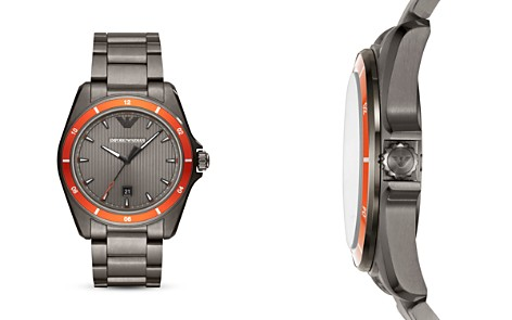 Emporio Armani Sigma Three-Hand Stainless Steel Watch, 44mm - Bloomingdale's_2