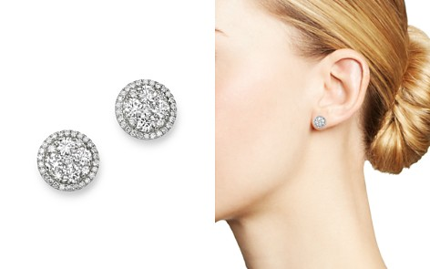 Bloomingdale's Diamond Circle Halo Stud Earrings in 14K White Gold, 1.0 ct. t.w. - 100% Exclusive_2