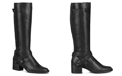 UGG® Women's Bandara Round Toe Leather Mid-Heel Boots - Bloomingdale's_2