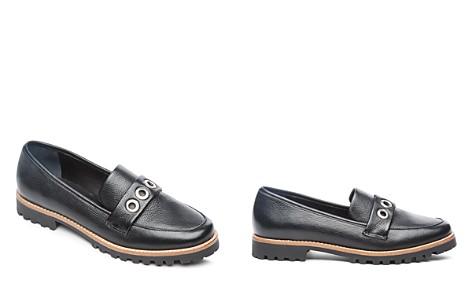 Bernardo Women's Ozzy Round Toe Grommet Leather Loafers - Bloomingdale's_2