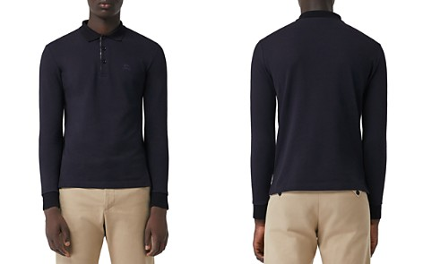 Burberry Hartford Long-Sleeve Pique Polo Shirt - Bloomingdale's_2