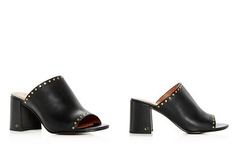 COACH Women's Alexis Leather Block-Heel Slide Sandals - Bloomingdale's_2