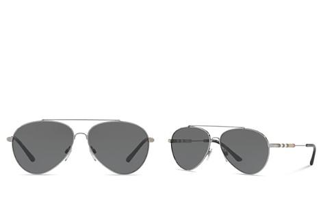 Burberry Women's Check Aviator Sunglasses, 57mm - Bloomingdale's_2