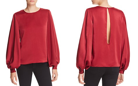 AQUA Bishop-Sleeve Satin Top - 100% Exclusive - Bloomingdale's_2
