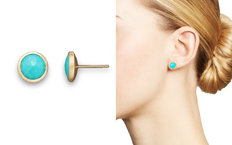 Marco Bicego 18K Yellow Gold and Turquoise Earrings - Bloomingdale's_2