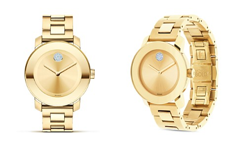 Movado BOLD Yellow Gold Plated Museum Dial Watch, 36mm - Bloomingdale's_2
