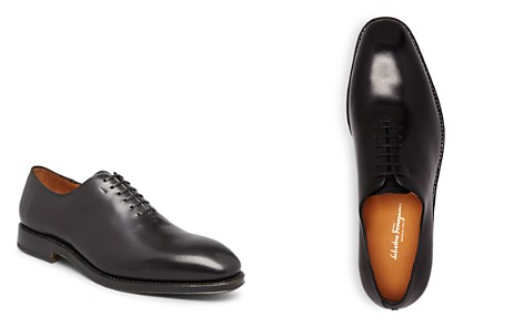 Salvatore Ferragamo Men's Nero Carmelo Tramezza Plain Toe Oxfords - Bloomingdale's_2