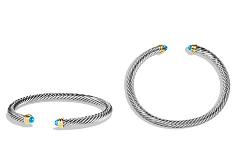 David Yurman Cable Classics Bracelet with Blue Topaz and Gold - Bloomingdale's_2