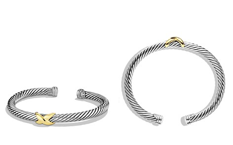 David Yurman X Bracelet with Gold - Bloomingdale's_2