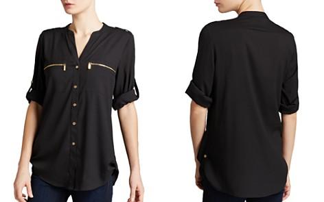 Calvin Klein Zip Pocket Roll Sleeve Shirt - Bloomingdale's_2