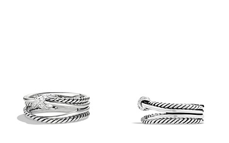 David Yurman X Crossover Ring with Diamonds - Bloomingdale's_2