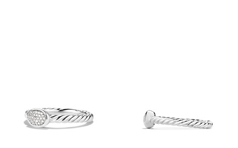 David Yurman Cable Collectibles Oval Ring with Diamonds - Bloomingdale's_2