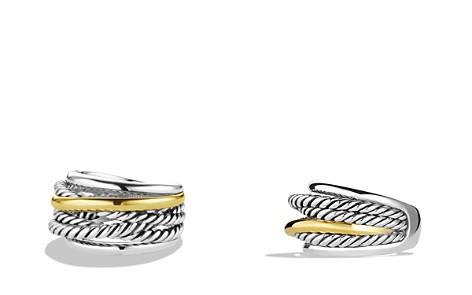David Yurman Crossover Narrow Ring with Gold - Bloomingdale's_2