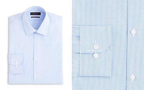 The Men's Store at Bloomingdale's Textured Micro Grid Check Dress Shirt - Regular Fit - 100% Exclusive_2
