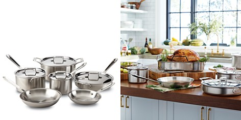 All-Clad d5 Stainless Brushed 10-Piece Cookware Set - Bloomingdale's_2