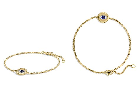 David Yurman Pavé Cable Evil Eye Charm with Blue Sapphire, Diamonds & Black Diamonds in Gold - Bloomingdale's_2